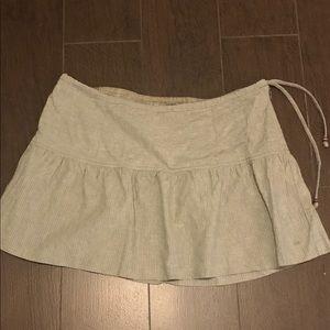 Casual, beachy linen/cotton mini skirt